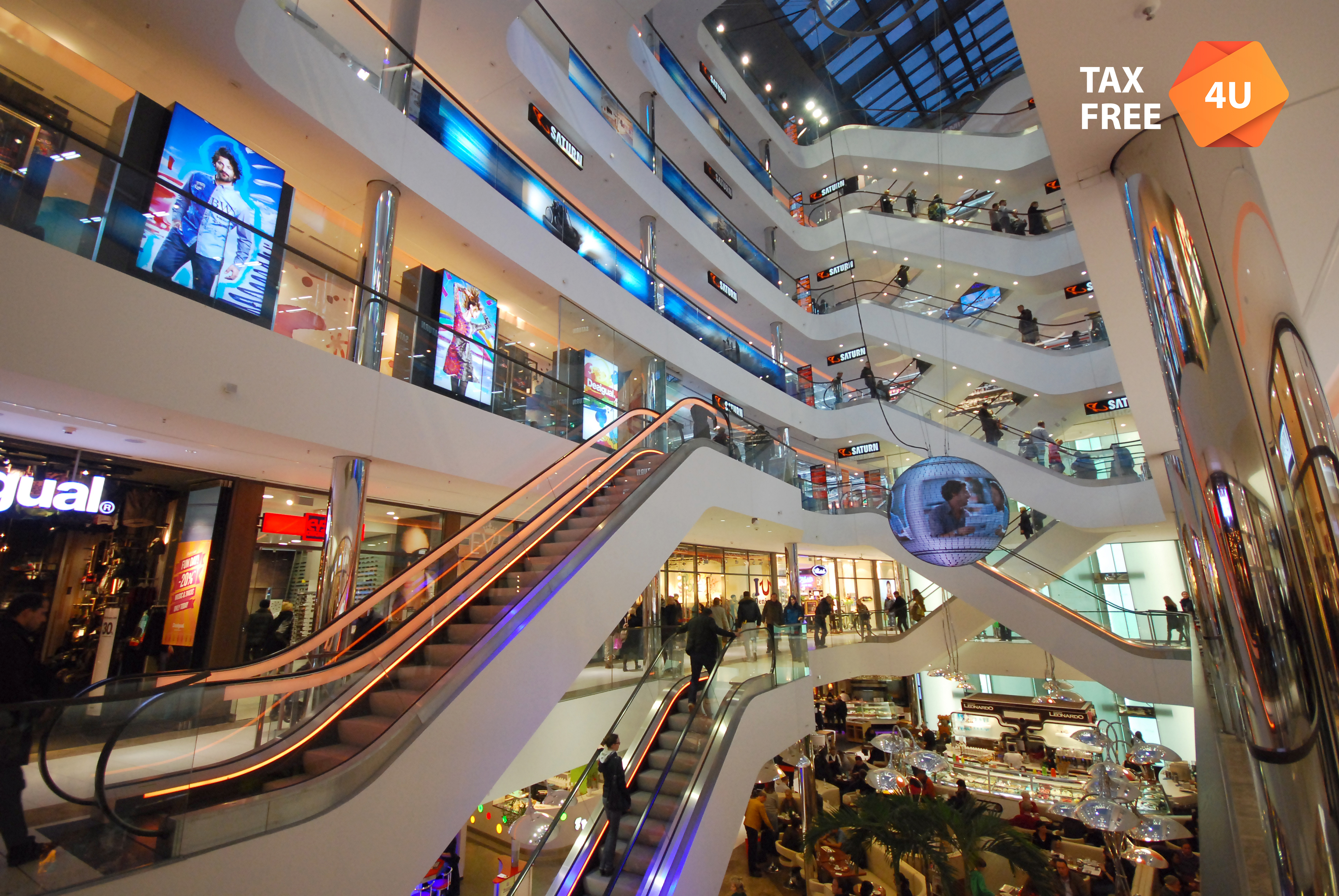 DUSSELDORF, GERMANY - OCTOBER 27: Interior of a shopping Mall October 27, 2012 in Dusseldorf, Germany. Interior of a shopping mall close to the Koningsallee